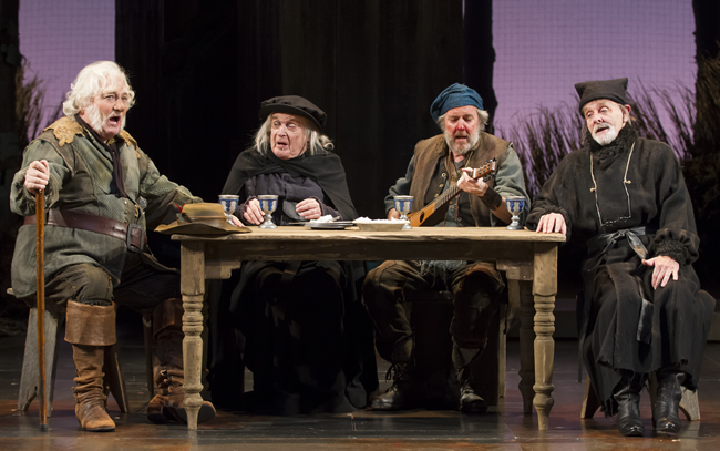 Stacy Keach, Ted van Griethuysen, Brad Bellamy, Bev Appleton. Photo credit Scott Suchman.